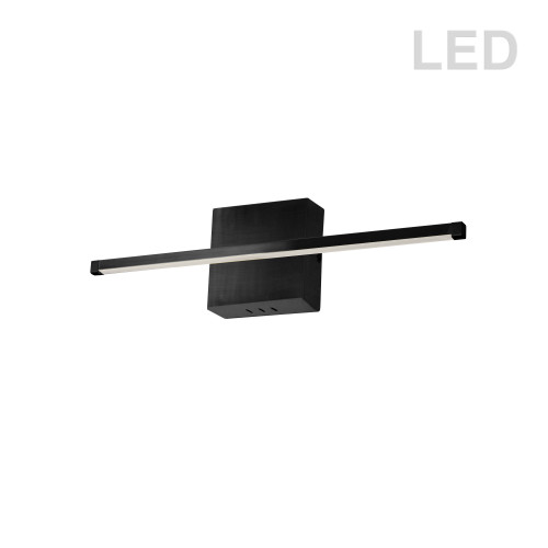 Dainolite Lighting  ARY-2419LEDW-MB 19W LED Wall Sconce, Matte Black with White Acrylic Diffuser