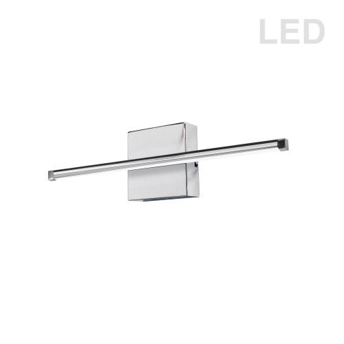 Dainolite Lighting  ARY-2419LEDW-PC 19W LED Wall Sconce, Polished Chrome with White Acrylic Diffuser