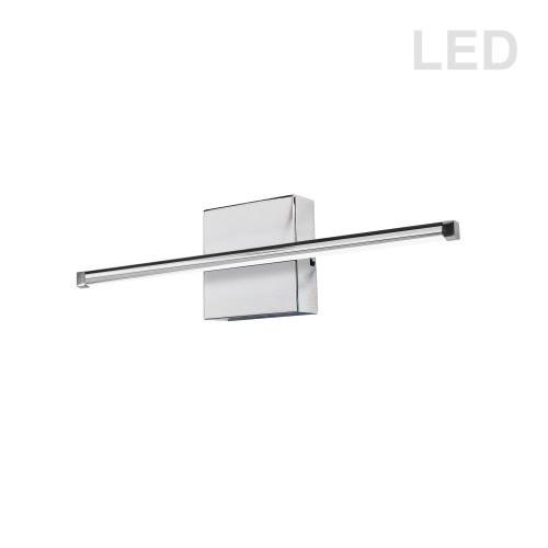 Dainolite Lighting  ARY-2419LEDW-PC 19W LED Wall Sconce, Polished Chrome with White Acrylic Diffuser