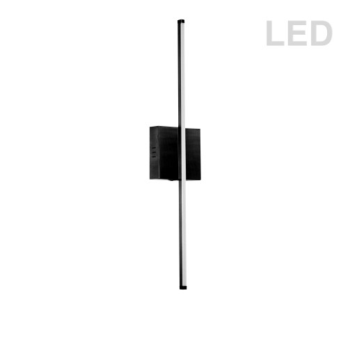 Dainolite Lighting  ARY-2519LEDW-MB 19W LED Wall Sconce, Matte Black with White Acrylic Diffuser