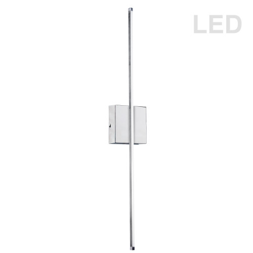 Dainolite Lighting  ARY-2519LEDW-PC 19W LED Wall Sconce, Polished Chrome with White Acrylic Diffuser