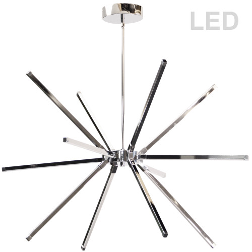 Dainolite Lighting  ARY-3260LEDC-PC 60W LED Chandelier, Polished Chrome with White Acrylic Diffuser