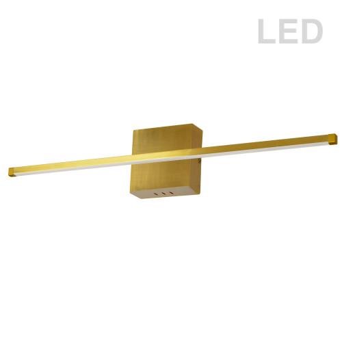 Dainolite Lighting  ARY-3630LEDW-AGB 30W LED Wall Sconce, Polished Chrome with White Acrylic Diffuser