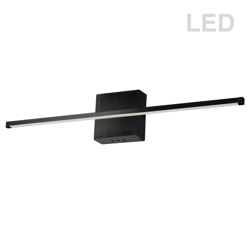 Dainolite Lighting  ARY-3630LEDW-MB 30W LED Wall Sconce, Matte Black with White Acrylic Diffuser