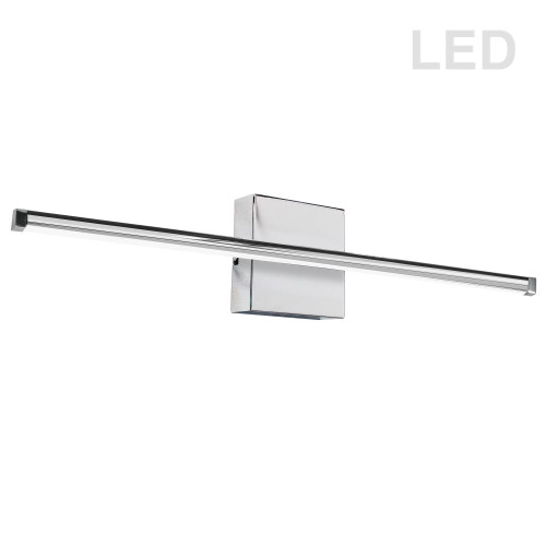 Dainolite Lighting  ARY-3630LEDW-PC 30W LED Wall Sconce, Polished Chrome with White Acrylic Diffuser