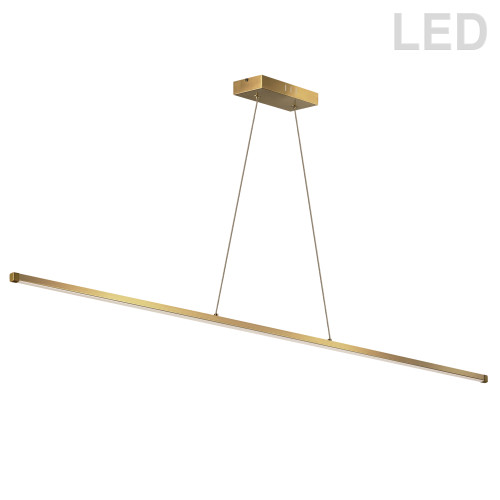 Dainolite Lighting  ARY-4830LEDHP-AGB 30W LED Horizontal Pendant, Aged Brass with White Acrylic Diffuser
