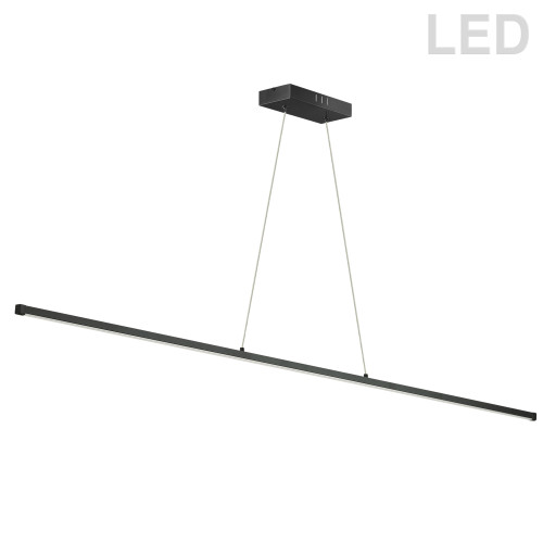 Dainolite Lighting  ARY-4830LEDHP-MB 30W LED Horizontal Pendant, Matte Black with White Acrylic Diffuser