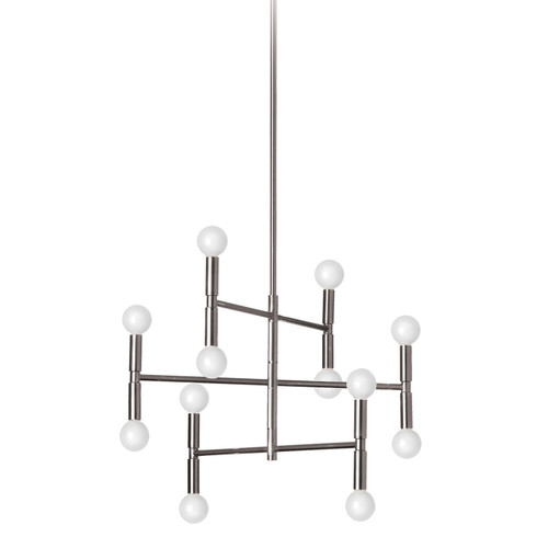 Dainolite Lighting  AVA-2012C-PC 12 Light Chandelier, Polished Chrome Finish