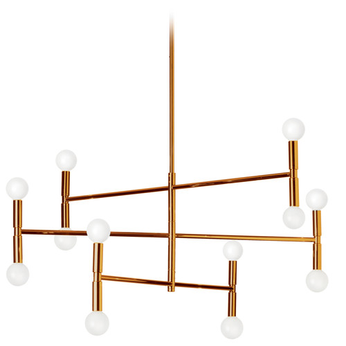Dainolite Lighting  AVA-3012C-VB 12 Light Chandelier, Vintage Bronze Finish