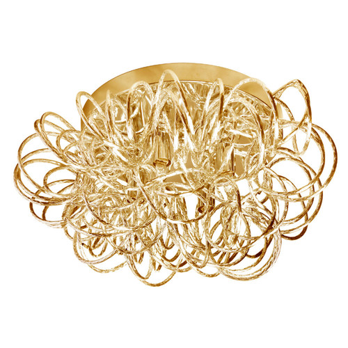 Dainolite Lighting  BAY-144FH-GLD 4 Light Tubular Flush Mount Fixture, Gold Finish