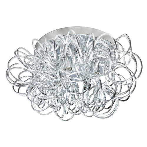 Dainolite Lighting  BAY-144FH-PC 4 Light Tubular Flush Mount Fixture, Polished Chrome Finish