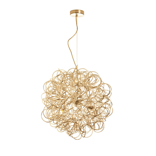 Dainolite Lighting  BAY-166LP-GLD 6 Light  Tubular Pendant, Gold Finish