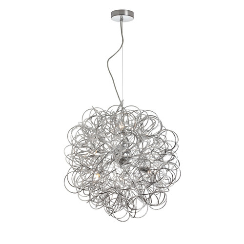 Dainolite Lighting  BAY-166LP-PC 6 Light Tubular  Pendant,Polished Chrome Finish