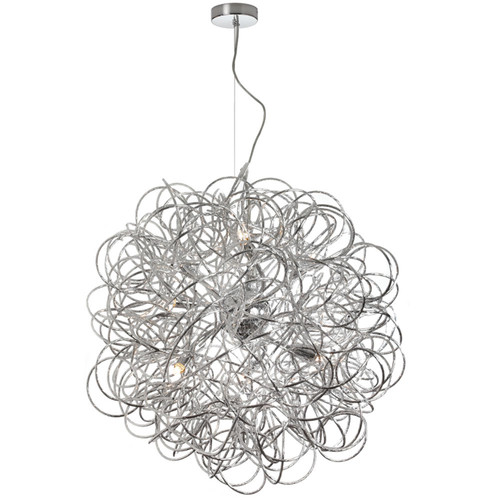Dainolite Lighting  BAY-248LP-PC 8 Light Tubular  Pendant,Polished Chrome Finish