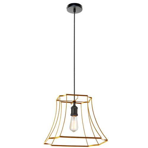 Dainolite Lighting  BKO-1L-GLD 1LT Metal Gold Framed Pendant