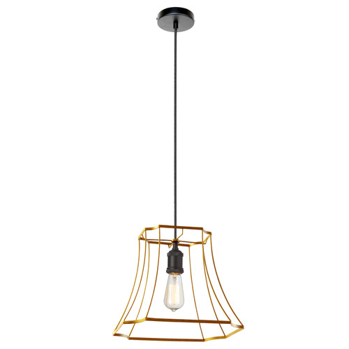 Dainolite Lighting  BKO-1M-GLD 1LT Metal Gold Framed Pendant