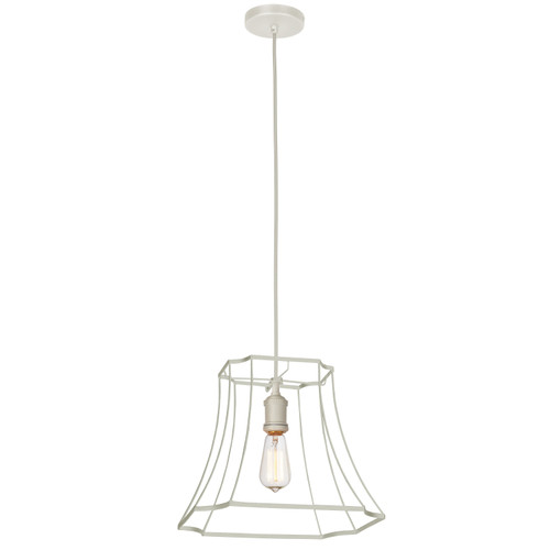 Dainolite Lighting  BKO-1M-WH 1LT Metal White Framed Pendant