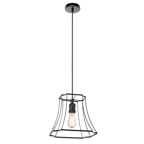 Dainolite Lighting  BKO-1S-BK 1LT Metal Black Framed Pendant