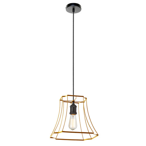 Dainolite Lighting  BKO-1S-GLD 1LT Metal Gold Framed Pendant