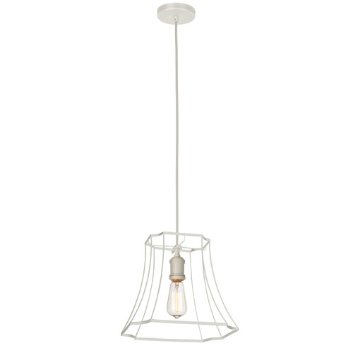 Dainolite Lighting  BKO-1S-WH 1LT Metal White Framed Pendant