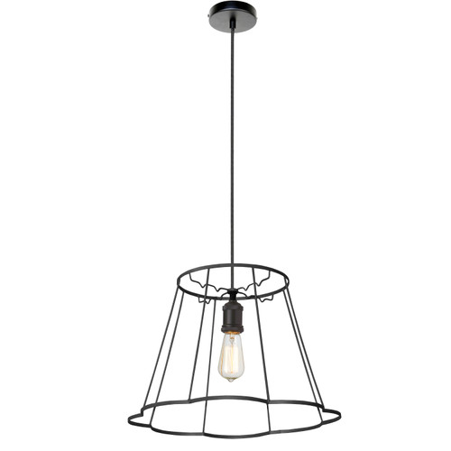 Dainolite Lighting  BKO-SM-BK 1LT Metal Black Framed Pendant