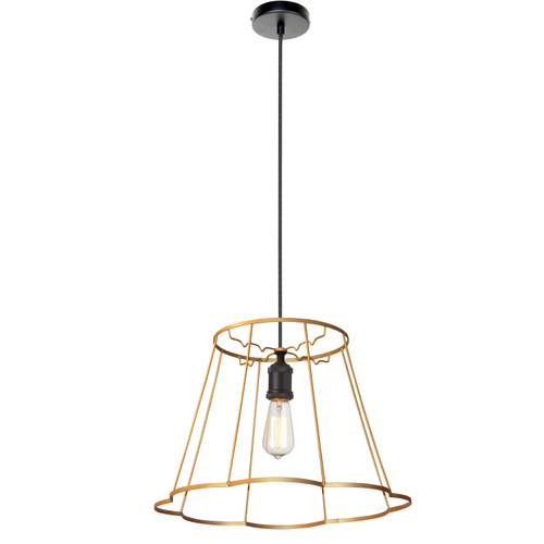 Dainolite Lighting  BKO-SM-GLD 1LT Metal Gold Framed Pendant