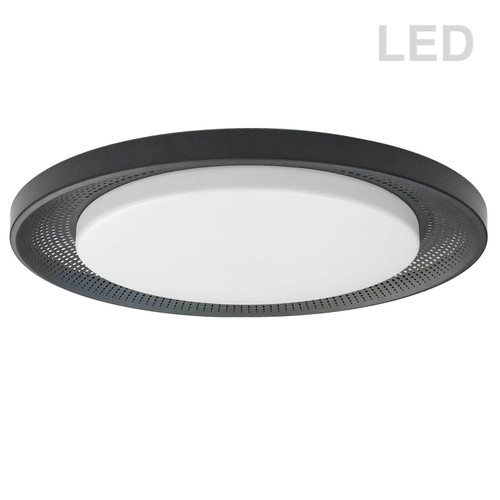 Dainolite Lighting  BLL-1730LEDFH-MB 30W Flush Mount Matte Black with White Acrylic Diffuser