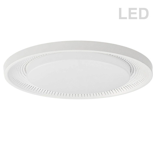 Dainolite Lighting  BLL-1730LEDFH-MW 30W Flush Mount Matte White with White Acrylic Diffuser