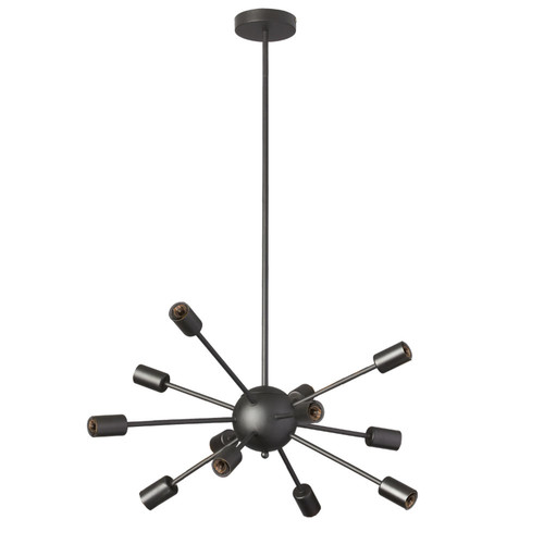 Dainolite Lighting  BRI-1712C-MB 12 Light Satellite Chandelier, Matte Black