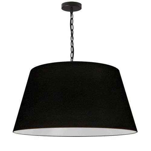 Dainolite Lighting  BRY-L-BK-797 1 Light Brynn Large Pendant, Black Shade, Black