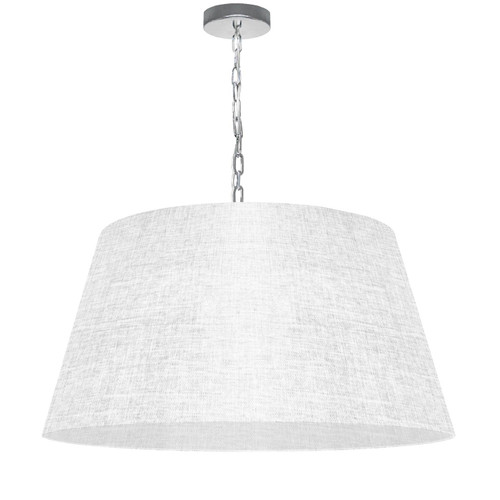 Dainolite Lighting  BRY-L-PC-2400 1 Light Brynn Large Pendant, White/Clear Shade, Polished Chrome