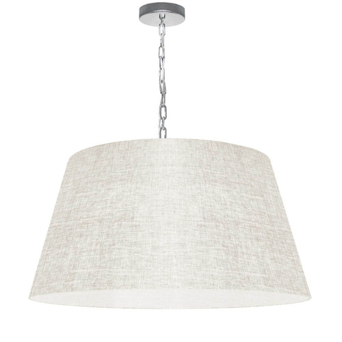 Dainolite Lighting  BRY-L-PC-2405 1 Light Brynn Large Pendant, Cream/Clear Shade, Polished Chrome
