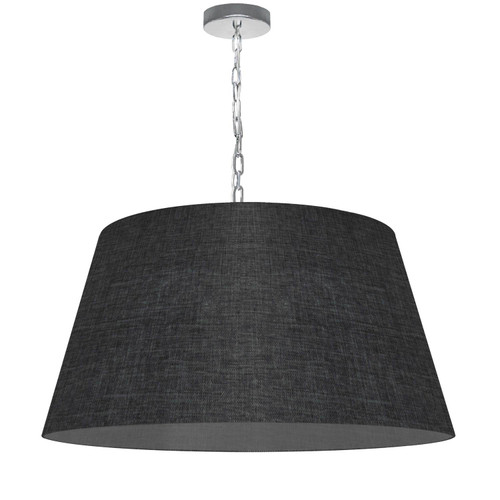 Dainolite Lighting  BRY-L-PC-2406 1 Light Brynn Large Pendant, Black/Clear Shade, Polished Chrome