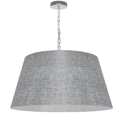 Dainolite Lighting  BRY-L-PC-2423 1 Light Brynn Large Pendant, Grey/Clear Shade, Polished Chrome