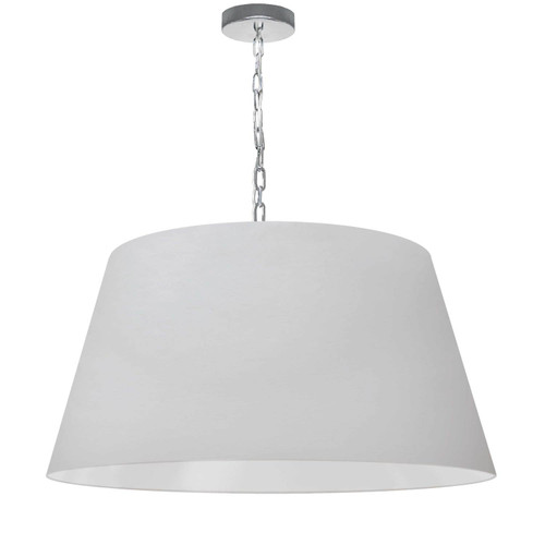 Dainolite Lighting  BRY-L-PC-790 1 Light Brynn Large Pendant, White Shade, Polished Chrome