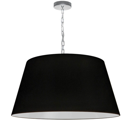 Dainolite Lighting  BRY-L-PC-797 1 Light Brynn Large Pendant, Black Shade, Polished Chrome
