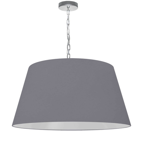 Dainolite Lighting  BRY-L-PC-835 1 Light Brynn Large Pendant, Grey Shade, Polished Chrome