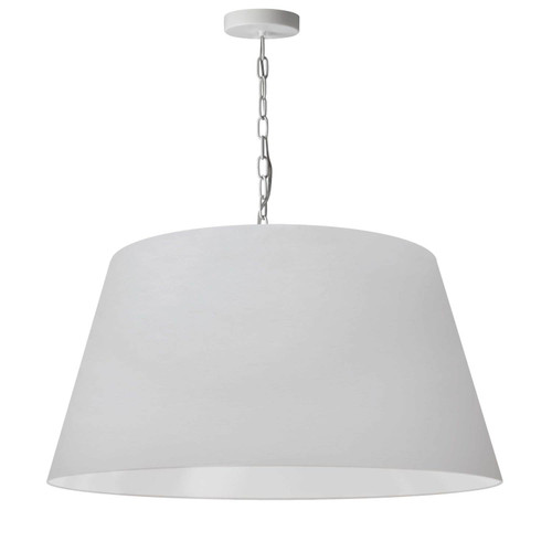 Dainolite Lighting  BRY-L-WH-790 1 Light Brynn Large Pendant, White Shade, White
