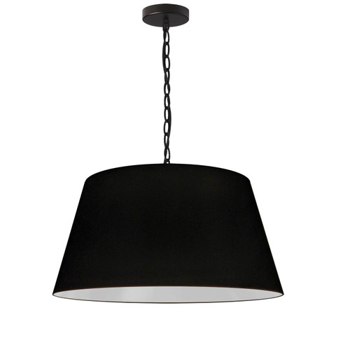 Dainolite Lighting  BRY-M-BK-797 1 Light Brynn Medium Pendant, Black Shade, Black