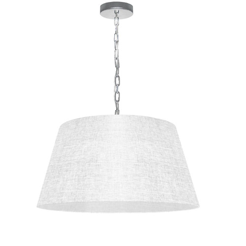 Dainolite Lighting  BRY-M-PC-2400 1 Light Brynn Medium Pendant, White/Clear Shade, Polished Chrome