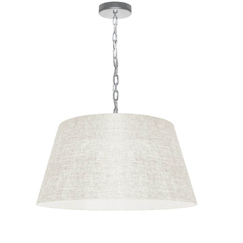 Dainolite Lighting  BRY-M-PC-2405 1 Light Brynn Medium Pendant, Cream/Clear Shade, Polished Chrome