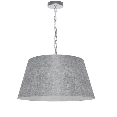 Dainolite Lighting  BRY-M-PC-2423 1 Light Brynn Medium Pendant, Grey/Clear Shade, Polished Chrome