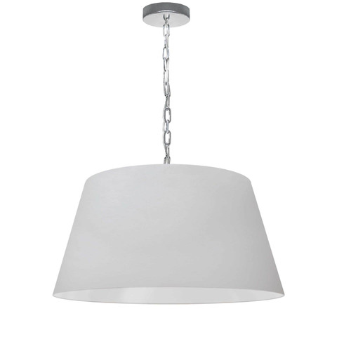 Dainolite Lighting  BRY-M-PC-790 1 Light Brynn Medium Pendant, White Shade, Polished Chrome