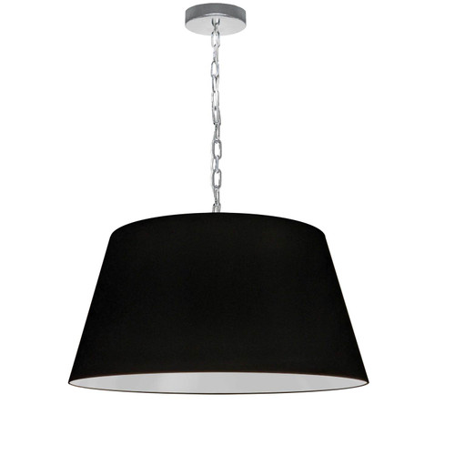 Dainolite Lighting  BRY-M-PC-797 1 Light Brynn Medium Pendant, Black Shade, Polished Chrome