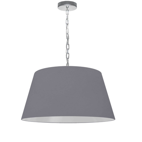 Dainolite Lighting  BRY-M-PC-835 1 Light Brynn Medium Pendant, Grey Shade, Polished Chrome