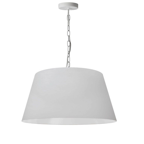 Dainolite Lighting  BRY-M-WH-790 1 Light Brynn Medium Pendant, White Shade, White
