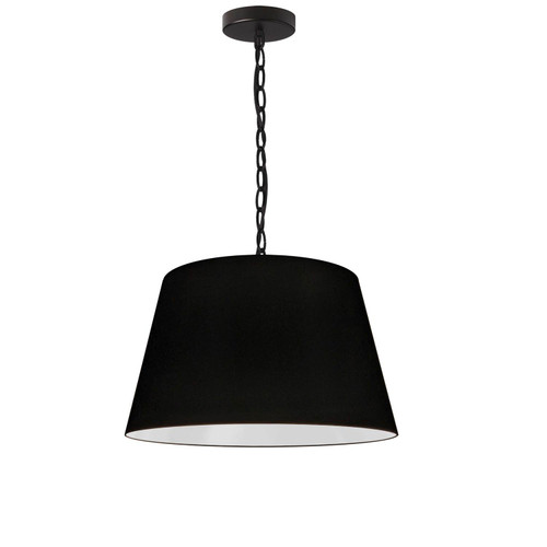 Dainolite Lighting  BRY-S-BK-797 1 Light Brynn Small Pendant, Black Shade, Black