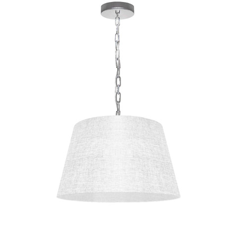 Dainolite Lighting  BRY-S-PC-2400 1 Light Brynn Small Pendant, White/Clear Shade, Polished Chrome