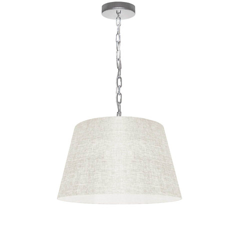 Dainolite Lighting  BRY-S-PC-2405 1 Light Brynn Small Pendant, Cream/Clear Shade, Polished Chrome