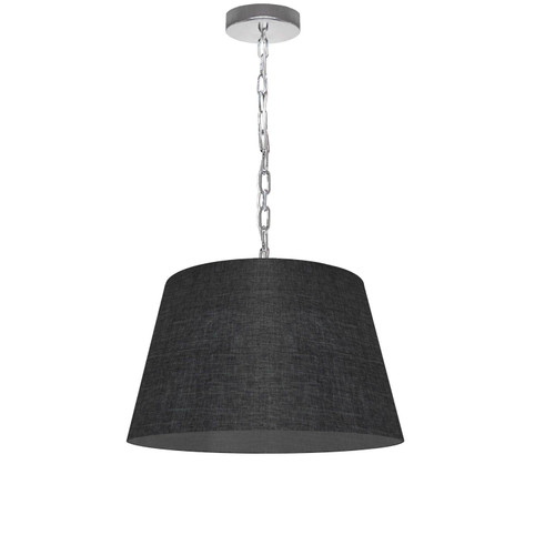 Dainolite Lighting  BRY-S-PC-2406 1 Light Brynn Small Pendant, Black/Clear Shade, Polished Chrome
